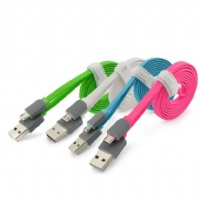 Flat Micro USB 2.0 A Male to Micro B Sync and Charging Cable